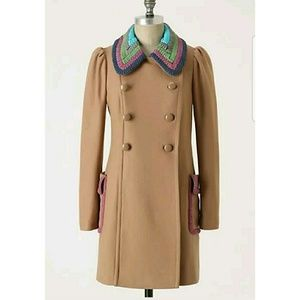 Size 2 Tracy Reese Anthropologie  Tan  Coat